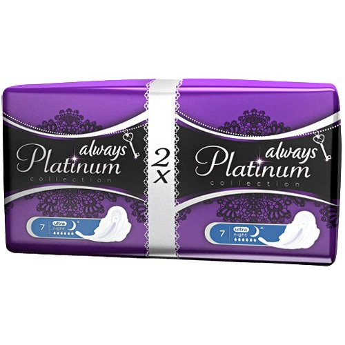 "Прокладки ""Always"" (Олвейс) Platinum Ultra Night Duo 14шт"