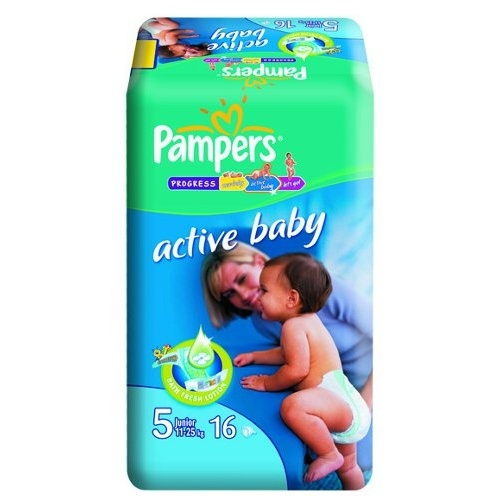"Подгузники ""Pampers Active Baby"" (Памперс Актив Бэби) Junior 11-25кг 16шт"