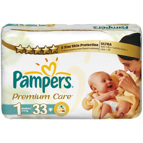"Подгузники ""Pampers Premium Care"" (Памперс Премиум Кеа) New born 2-5кг 33шт"