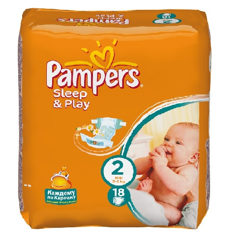 "Подгузники ""Pampers Sleep&Play"" (Памперс Слип&Плей) Mini 3-6кг 18шт"