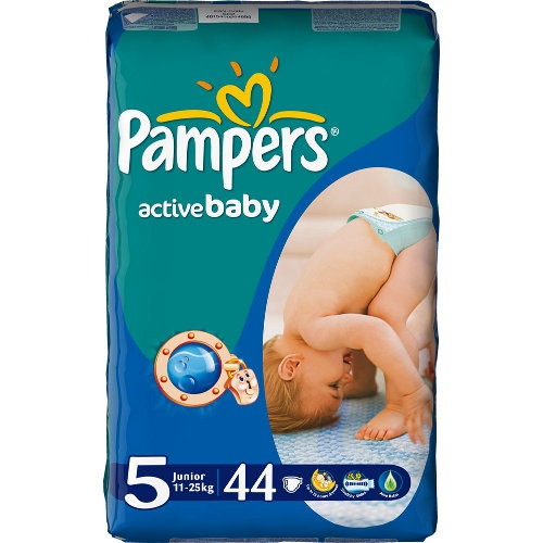 "Подгузники ""Pampers Active Baby"" (Памперс Актив Бэби) Junior 11-25кг 44шт эконом.упаковка"