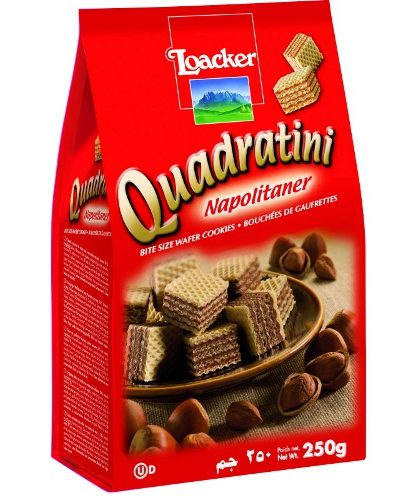 "Вафли ""Loacker Quadratini"" (Лоакер Квадратини) Неаполит 250г"