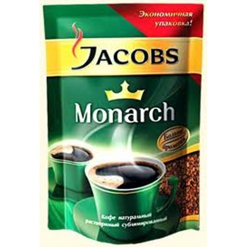"Кофе ""Jacobs Monarch"" (Якобс Монарх) растворимый натуральный сублимированный 75г пакет"