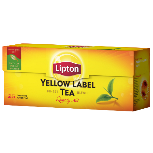 "Чай ""Lipton"" (Липтон) Yellow Label Tea черный 25пак по 2г"