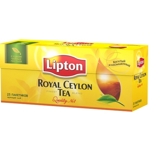 "Чай ""Lipton"" (Липтон) Royal Ceylon черный 25пак 50г"
