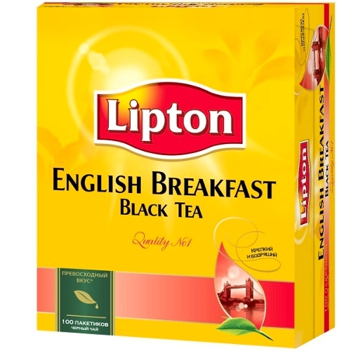 "Чай ""Lipton"" (Липтон) English Breakfast черный 100пак х 2г (200г)"