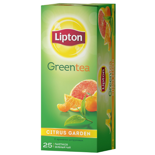 "Чай ""Lipton"" (Липтон) Citrus Garden Green Tea зеленый 25пак х 2г (50г)"
