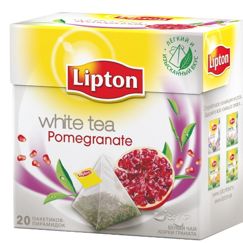 "Чай ""Lipton"" (Липтон) Pomegranate белый с корками граната 20 пирамидок х 1"