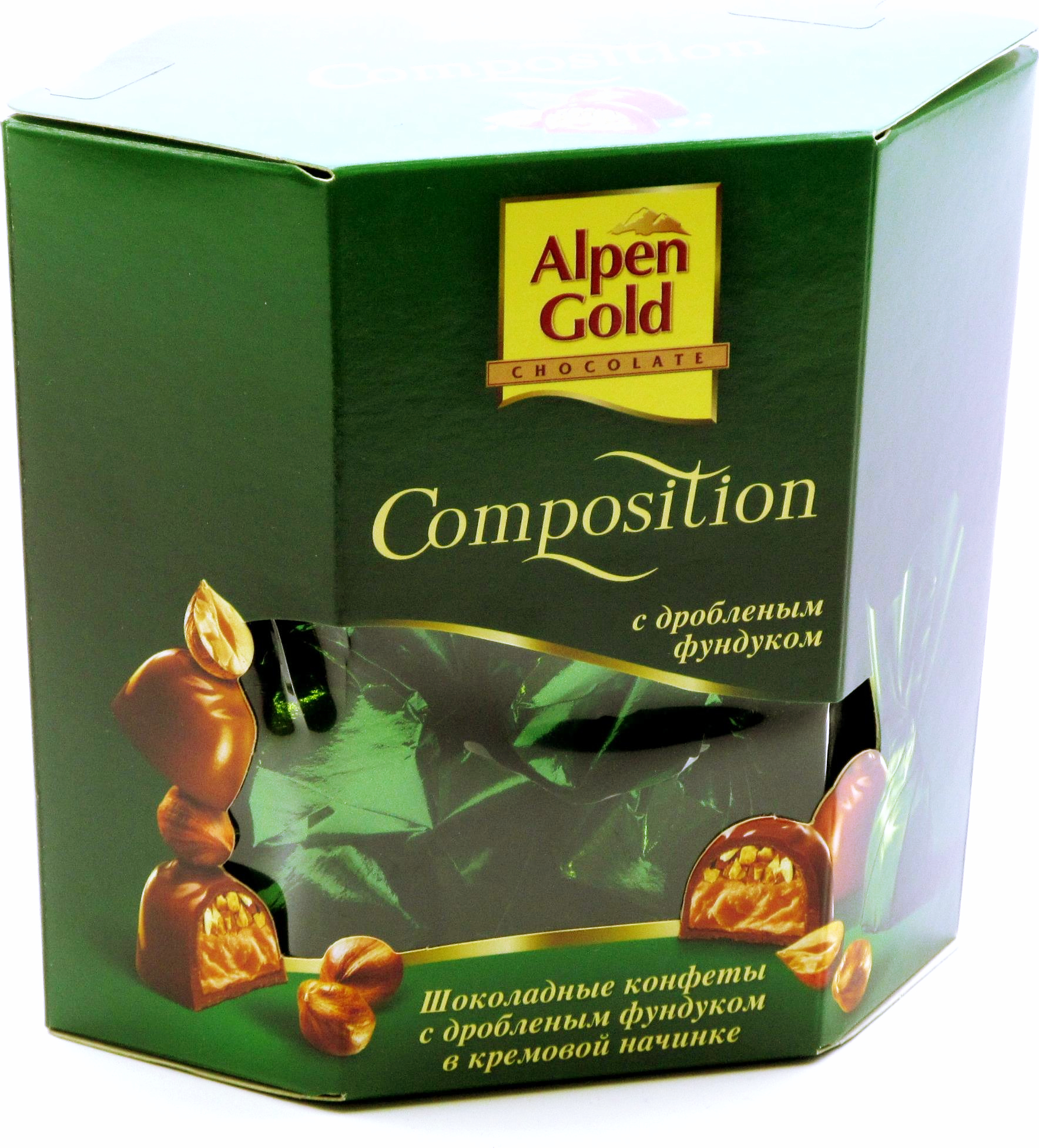 Шоколадные конфеты Alpen Gold Composition с дроблёным фундуком