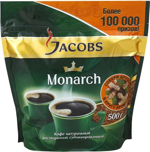 Кофе Jacobs Monarch растворимый пакет