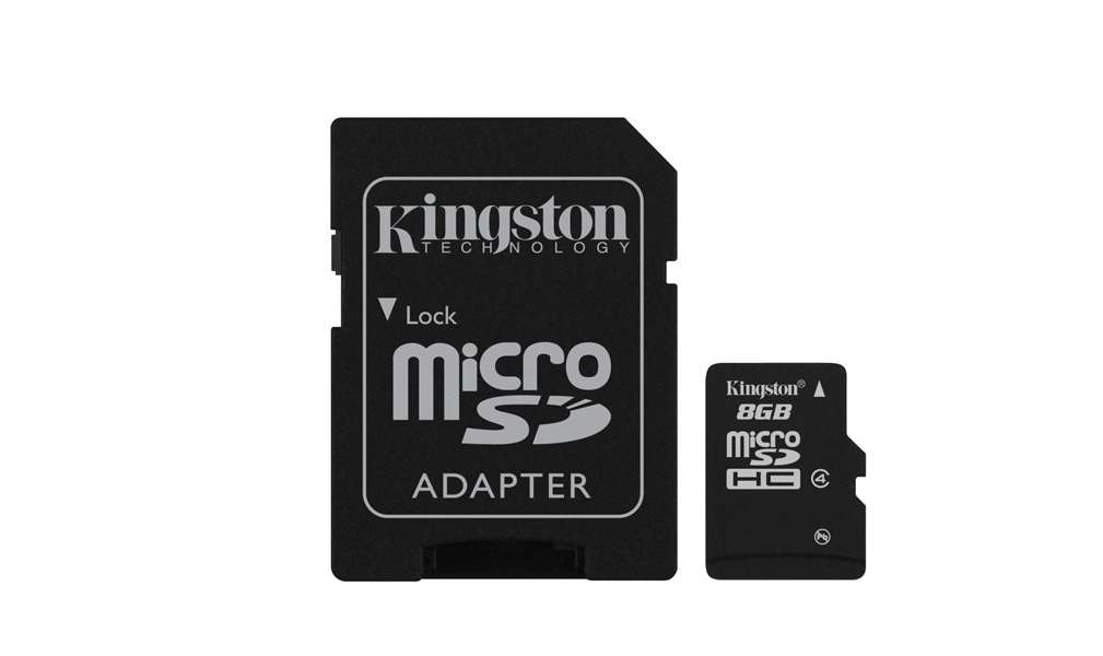 Карта памяти Kingston MicroSDHC 8 Gb Class 4