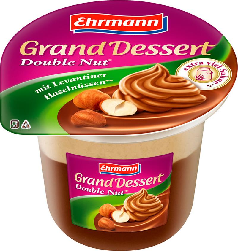 Пудинг Ehrmann Grand Dessert Double Nut