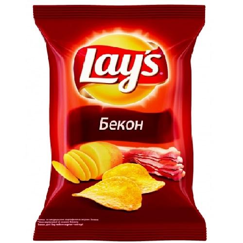 Чипсы из натурального картофеля со вкусом бекона 35г п/п LAY'S