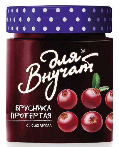 """Варенье """"Для внучат"""" брусника с сахаром 245г ст/бан"""